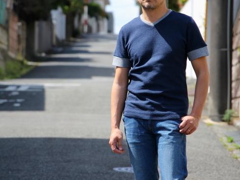 あの!Tシャツに待望のVネックが新登場♪ 【ダブルフェイスVネックTシャツ♪】_d0108933_21530215.jpg