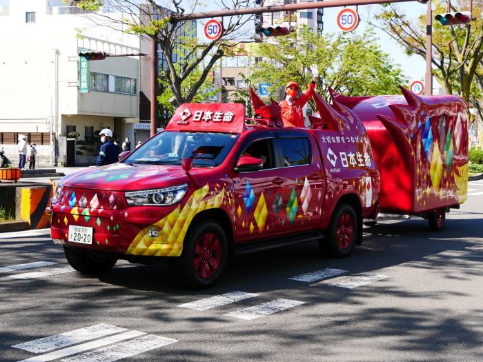 聖火が走る和歌山市けやき大通り  2021-04-11 00:00_b0093754_16591447.jpg