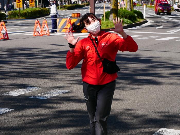 聖火が走る和歌山市けやき大通り  2021-04-11 00:00_b0093754_16592920.jpg