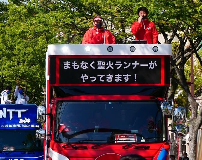 聖火が走る和歌山市けやき大通り  2021-04-11 00:00_b0093754_17022364.jpg