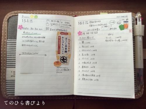 高橋No.8ポケットダイアリー#3/15〜3/21_d0285885_18030747.jpeg