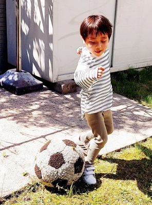 エコファー作品その12~サッカーボール~_b0194861_18300511.jpg