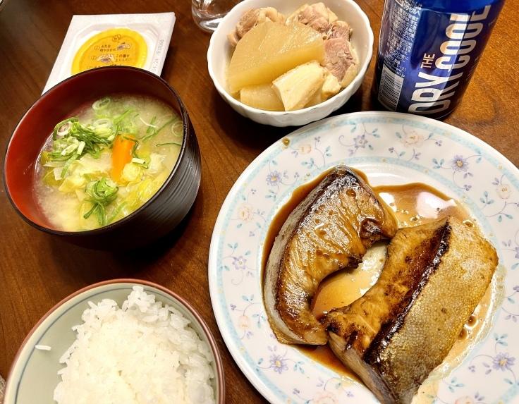 ブリの照り焼、大根煮、そして野菜の味噌汁! - よく飲むオバチャン☆本日のメニュー