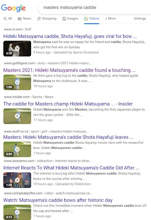 松山英樹選手が優勝したマスターズ、最終18番ホールでの早藤キャディの一礼から感じる日本人らしさ_b0007805_21020172.jpg
