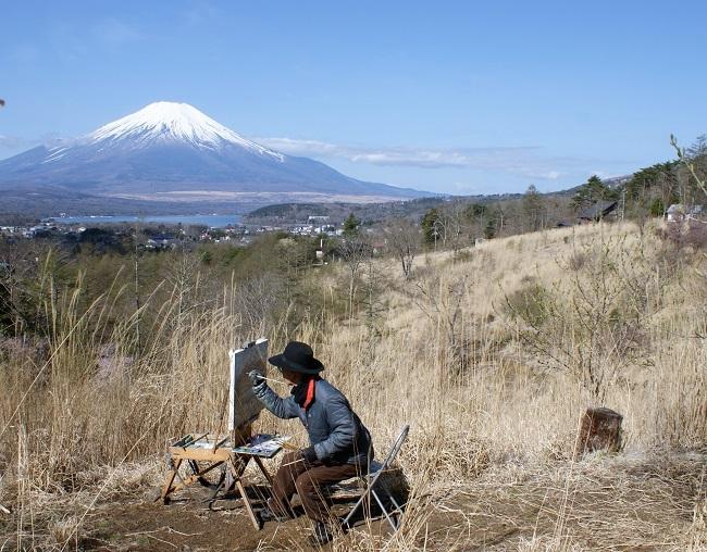 富士周辺も春がやってきました!桜が咲き始めました。【山中湖の富士山】_d0153860_16453492.jpg