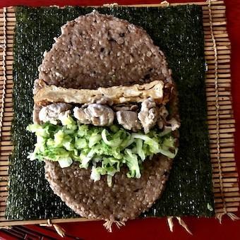 酵素玄米ラップのaciao米ロールを公園弁当に_c0031486_13211048.jpg