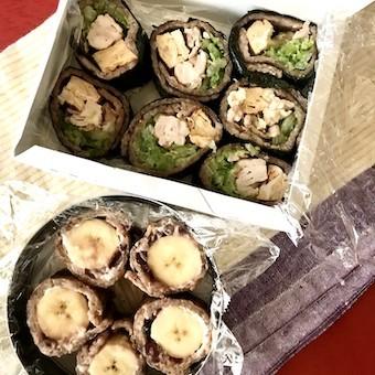 酵素玄米ラップのaciao米ロールを公園弁当に_c0031486_13211196.jpg