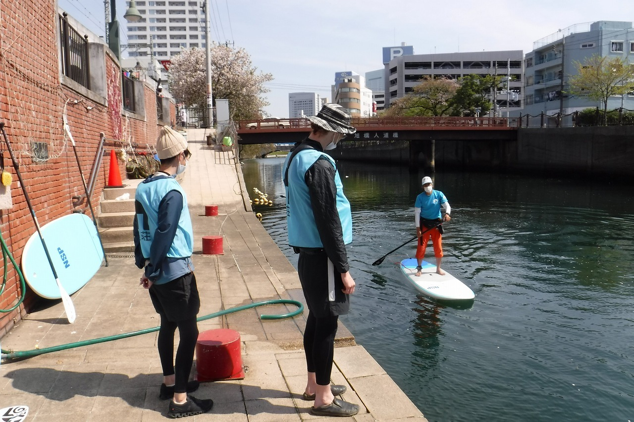 横浜・大岡川でSUPを楽しむ_c0027849_14354813.jpg