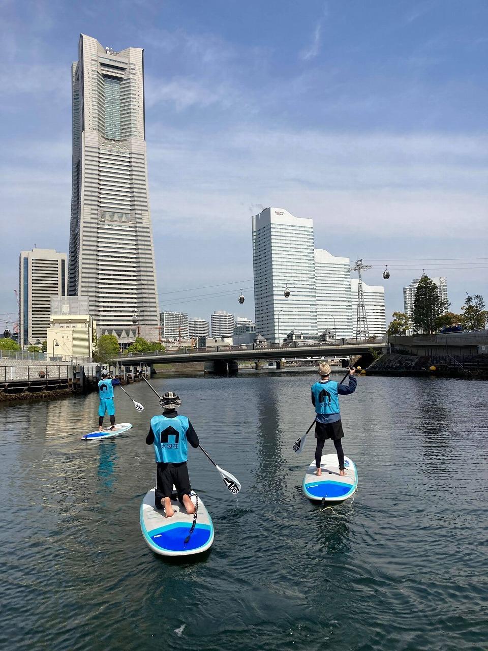 横浜・大岡川でSUPを楽しむ_c0027849_14411318.jpg