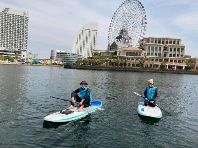 横浜・大岡川でSUPを楽しむ_c0027849_14452008.jpg