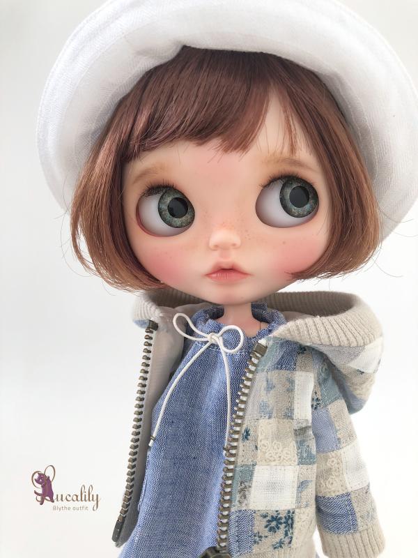 * lucalily * dolls clothes * Patchwork blouson set *_d0217189_12163864.jpeg