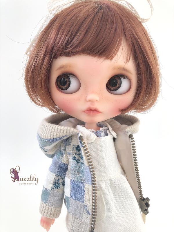 * lucalily * dolls clothes * Patchwork blouson set *_d0217189_12165137.jpeg