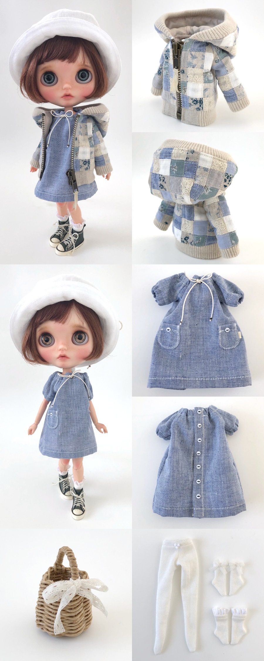 * lucalily * dolls clothes * Patchwork blouson set *_d0217189_12171047.jpeg