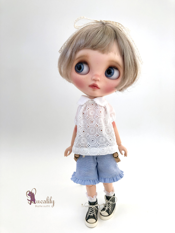 * lucalily * dolls clothes * Patchwork blouson set *_d0217189_12175917.jpeg