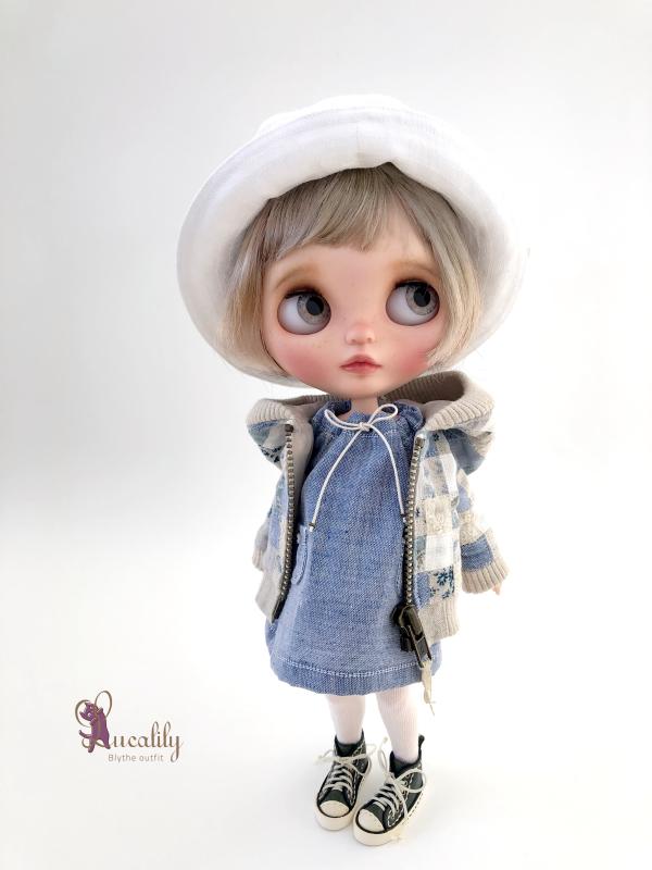 * lucalily * dolls clothes * Patchwork blouson set *_d0217189_12184036.jpeg