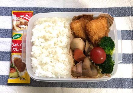 白身魚フライ&カレー弁当と、子離れの話_d0384590_06381626.jpg
