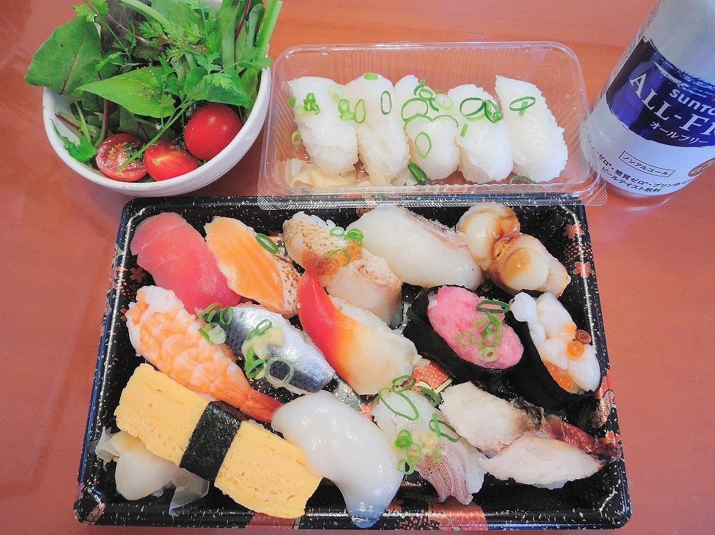 オーケーストアのお弁当(にぎり寿司)@自宅_d0393923_21374061.jpg