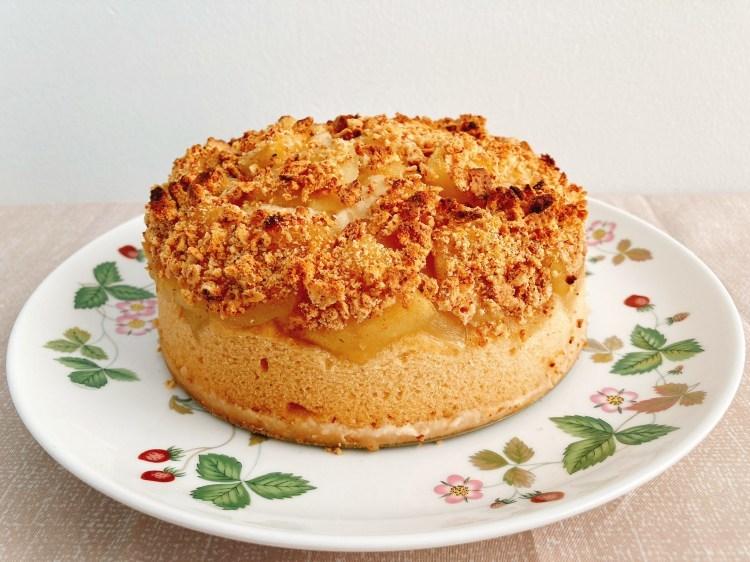 【ヘルシー】イギリス生まれの伝統的な家庭スイーツ!アップルクランブルケーキの作り方・レシピ【玄米粉】_c0405952_16055371.jpg
