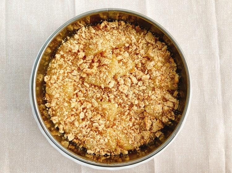 【ヘルシー】イギリス生まれの伝統的な家庭スイーツ!アップルクランブルケーキの作り方・レシピ【玄米粉】_c0405952_16064051.jpg