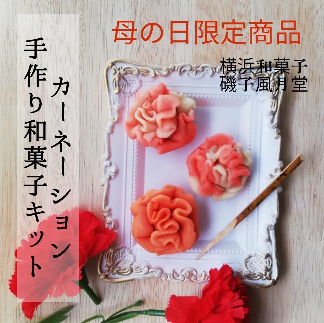 母の日 2021 カーネーションの和菓子 手作りキットもご予約開始☆磯子風月堂_e0092594_16361736.jpg