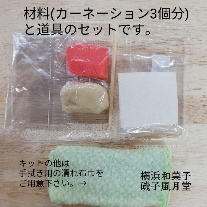 母の日 2021 カーネーションの和菓子 手作りキットもご予約開始☆磯子風月堂_e0092594_16390969.jpg