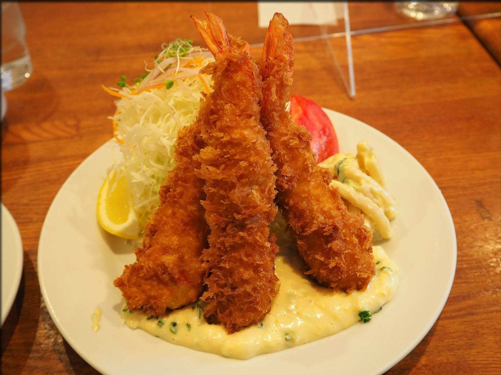 レストラン サカキでエビフライ@京橋 - 人形町からごちそうさま