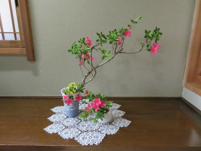 躑躅と皐月4月の花々を活ける_f0329849_16002816.jpg