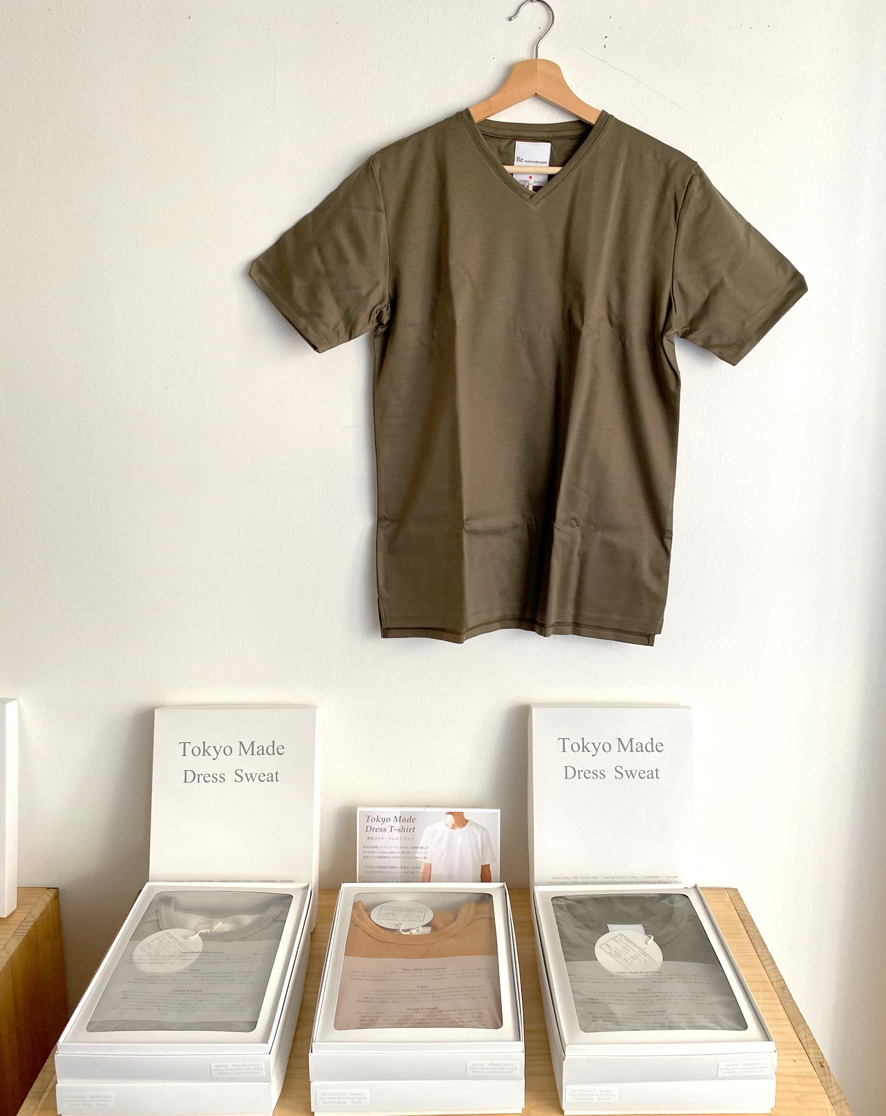 Tokyo Made Dress T-shirt (V-neck)_c0379477_08011548.jpg