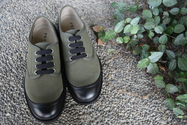 PEZZOL ITALY Military CANVAS SHOES_d0152280_19030389.jpg