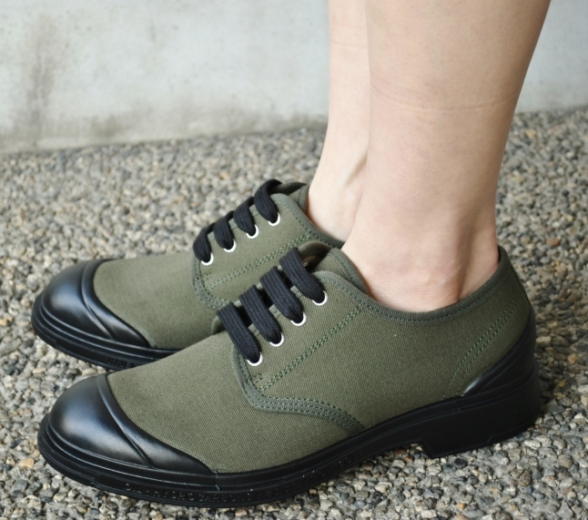 PEZZOL ITALY Military CANVAS SHOES_d0152280_19061341.jpg