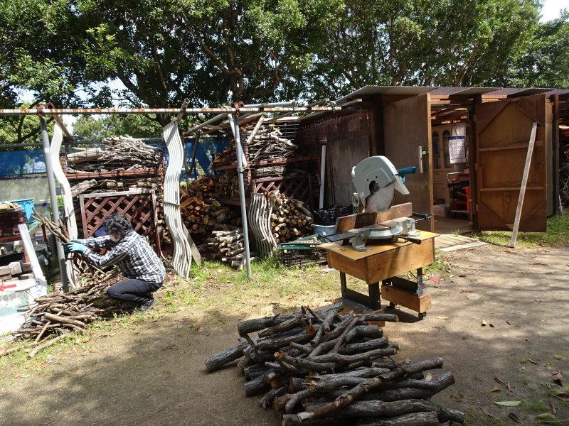 伐採木玉切りと薪置き場整理・・・自由活動日_c0108460_14492844.jpg