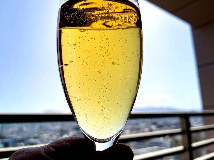 Moet & Chandon Grand Vintage 2000 ベランダでシャンパーニュを飲む! - よく飲むオバチャン☆本日のメニュー