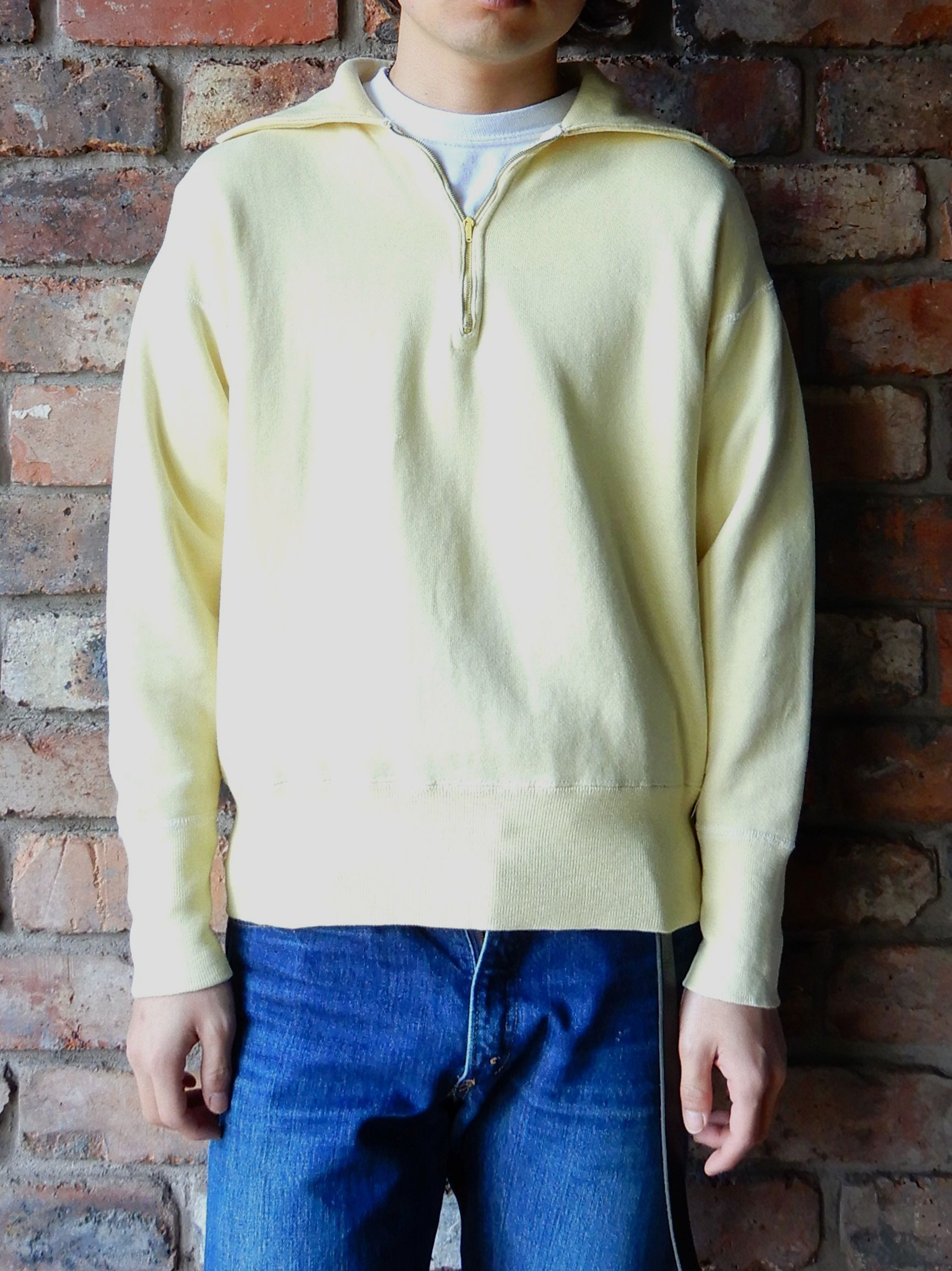 50\'S UNKNOW H/Z SWEAT SHIRT YELLOW--RECOMMEND--_d0334976_14371695.jpg