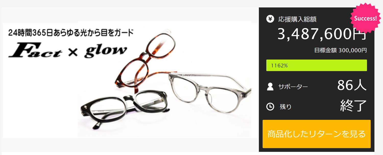 クラウドファンディング1162%達成・金栄堂完全オリジナルアイウェア【Fact×glow】一般販売開始!_c0003493_14515846.jpg