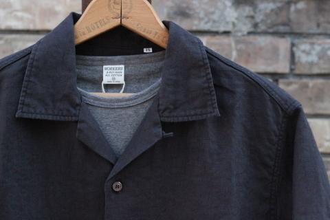"「WORKERS」 \""Open Collar Shirt, Black Linen\"" & 「Vintage Dress Shoes」 ご紹介_f0191324_08310376.jpg"