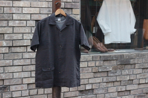 "「WORKERS」 \""Open Collar Shirt, Black Linen\"" & 「Vintage Dress Shoes」 ご紹介_f0191324_08311208.jpg"