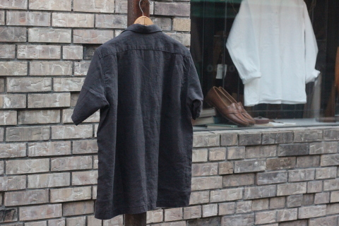 "「WORKERS」 \""Open Collar Shirt, Black Linen\"" & 「Vintage Dress Shoes」 ご紹介_f0191324_08315089.jpg"