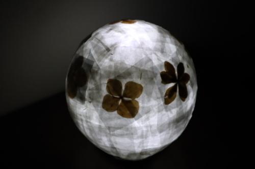 ペーパークラフト ~ 押し花のランプシェード ~_e0222340_15143683.jpg