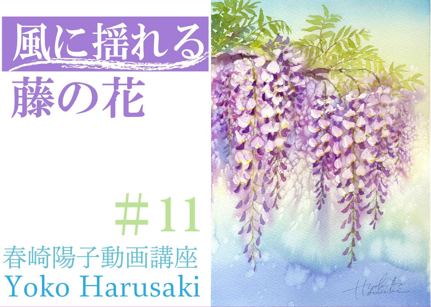 #11春崎陽子動画講座 『風に揺れる藤の花』_f0176370_13295558.jpg