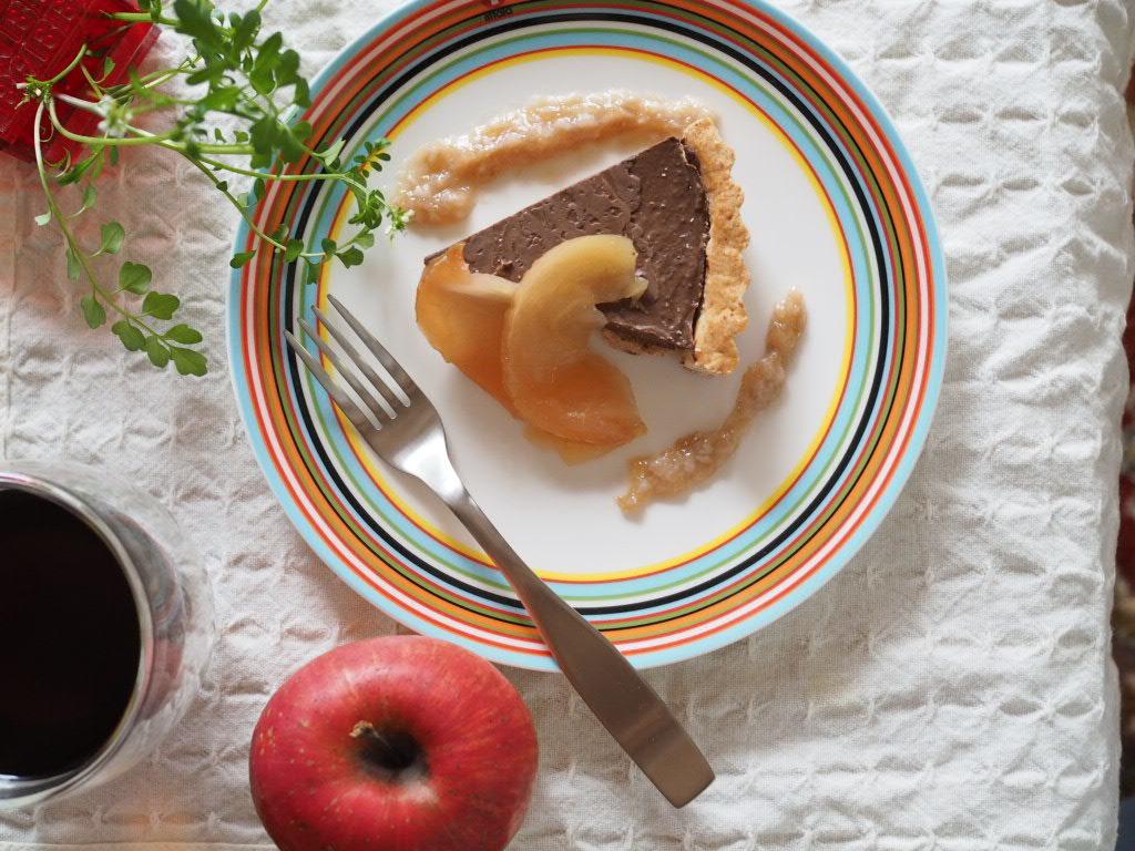 本みりんチョコタルトとリンゴのレモン煮🕊_e0348482_19180298.jpeg