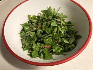 クレソンと搾菜の和え物_f0157847_15020411.jpg