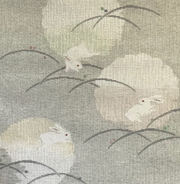 米沢もじり織・雪の結晶柄着物+雪輪に兎・紙布名古屋帯。_f0181251_19305991.jpg