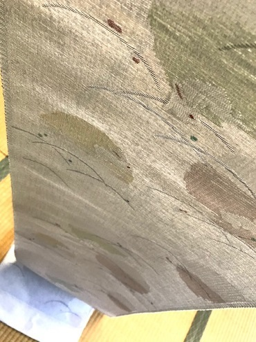 米沢もじり織・雪の結晶柄着物+雪輪に兎・紙布名古屋帯。_f0181251_19314984.jpg