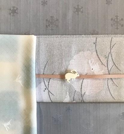 米沢もじり織・雪の結晶柄着物+雪輪に兎・紙布名古屋帯。_f0181251_19394541.jpg