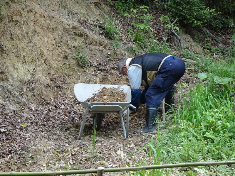 ビオトープの水漏れ補修とササユリ管理・・・うみべの森_c0108460_16393351.jpg