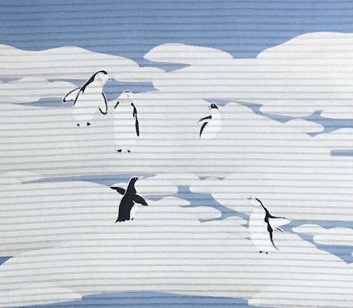 米沢もじり織・雪の結晶柄着物+ペンギンの絽の名古屋帯。_f0181251_18013053.jpg