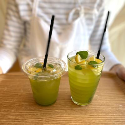 緑茶レモンティーが始まりました。_b0102217_15515142.jpg