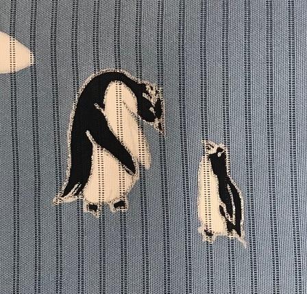 雪の結晶着物+ペンギン夏名古屋帯コーデ・緊急事態宣言。_f0181251_17565384.jpg
