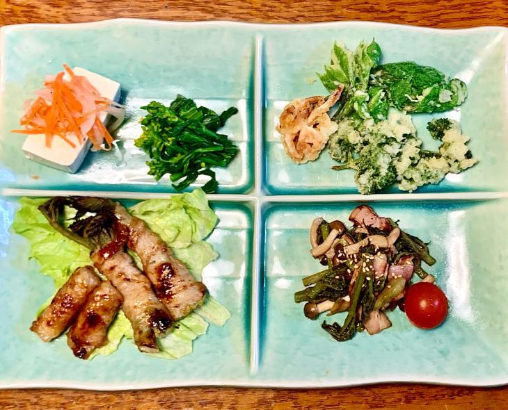 ある日の夕ご飯 山菜尽くし_b0093221_07551317.jpg