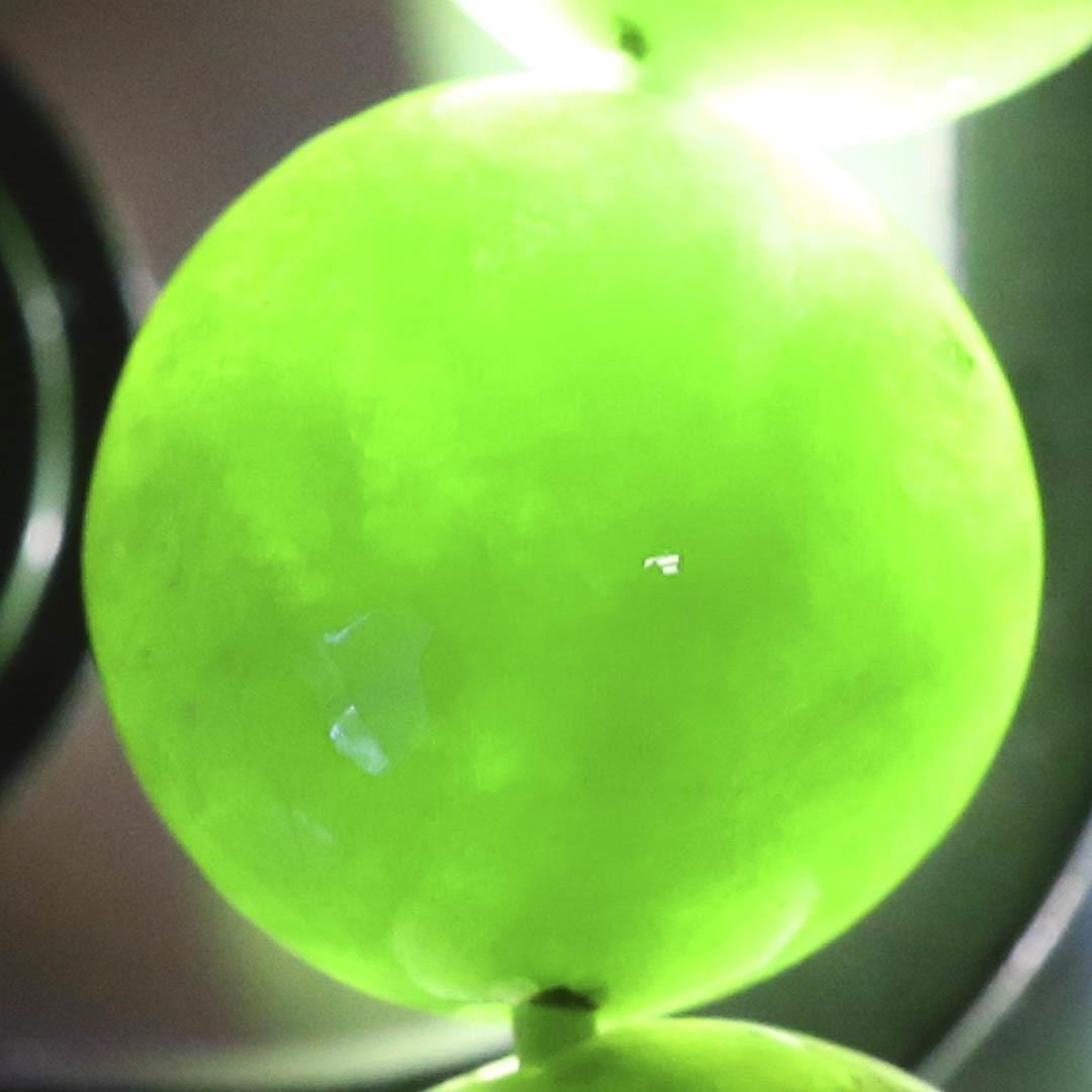 新緑を思わすみずみずしいネフライトのブレスレット_d0303974_19512763.jpg